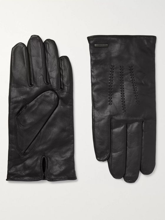 Hugo Boss Hainz3 Leather Gloves