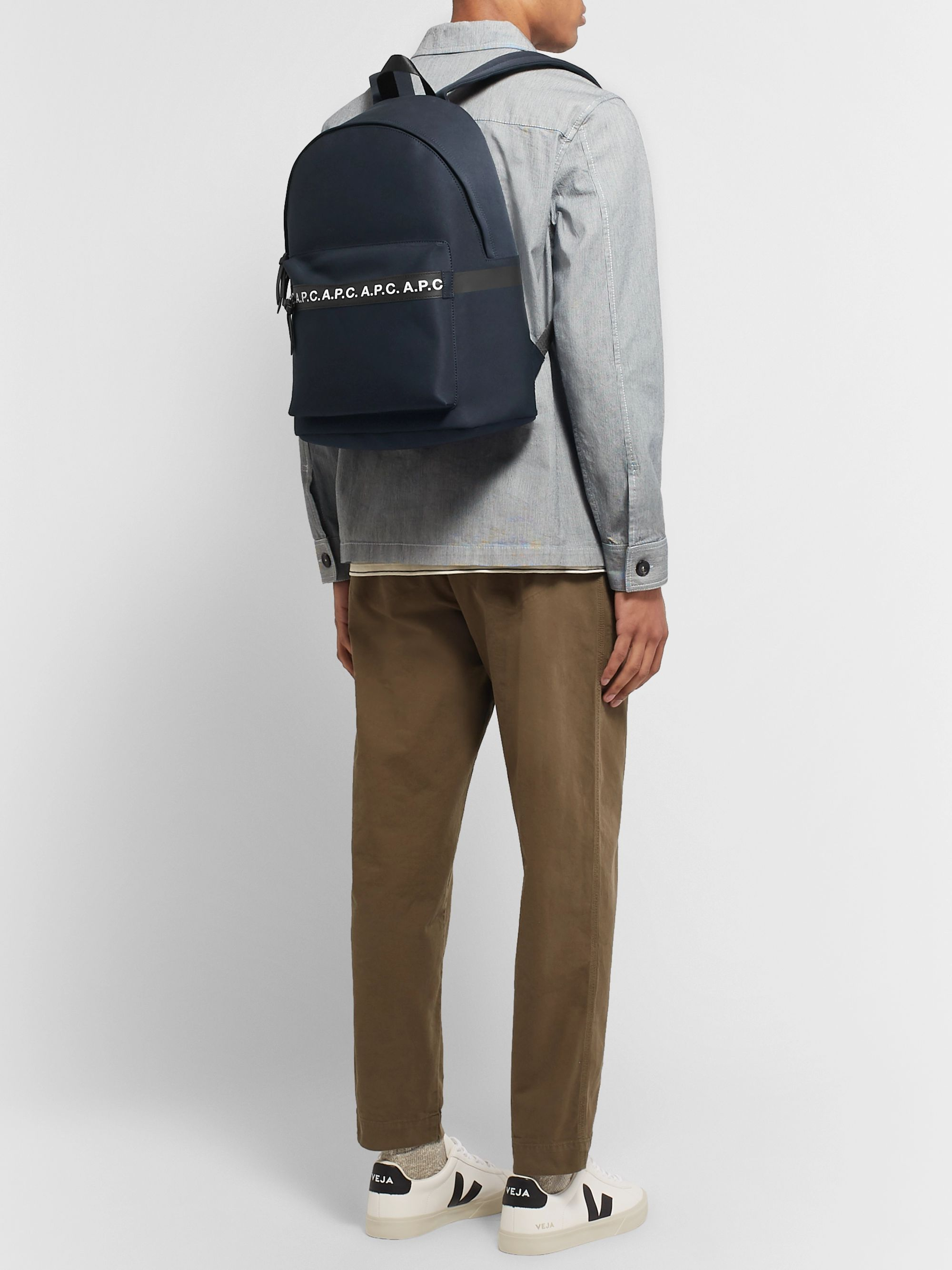 A.P.C. Savile Logo-Trimmed Tech-Canvas Backpack