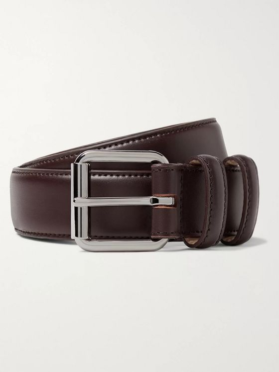 A.P.C. Paris 4cm Dark-Brown Leather Belt