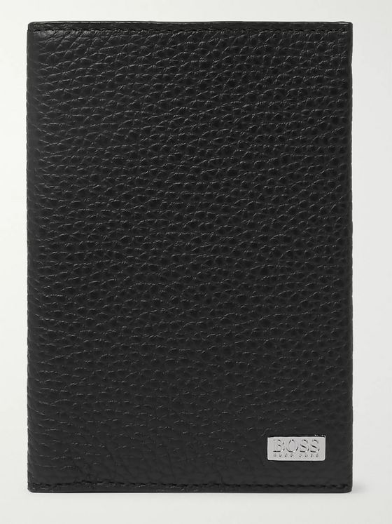 Hugo Boss Crosstown Full-Grain Leather Passport Cover