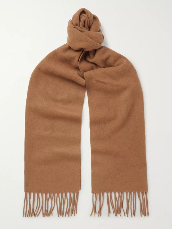 A.P.C. Remy Fringed Wool and Cashmere-Blend Scarf