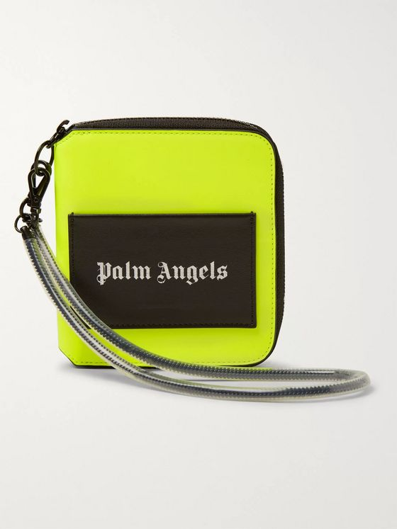 Palm Angels Logo-Print Zip-Around Wallet