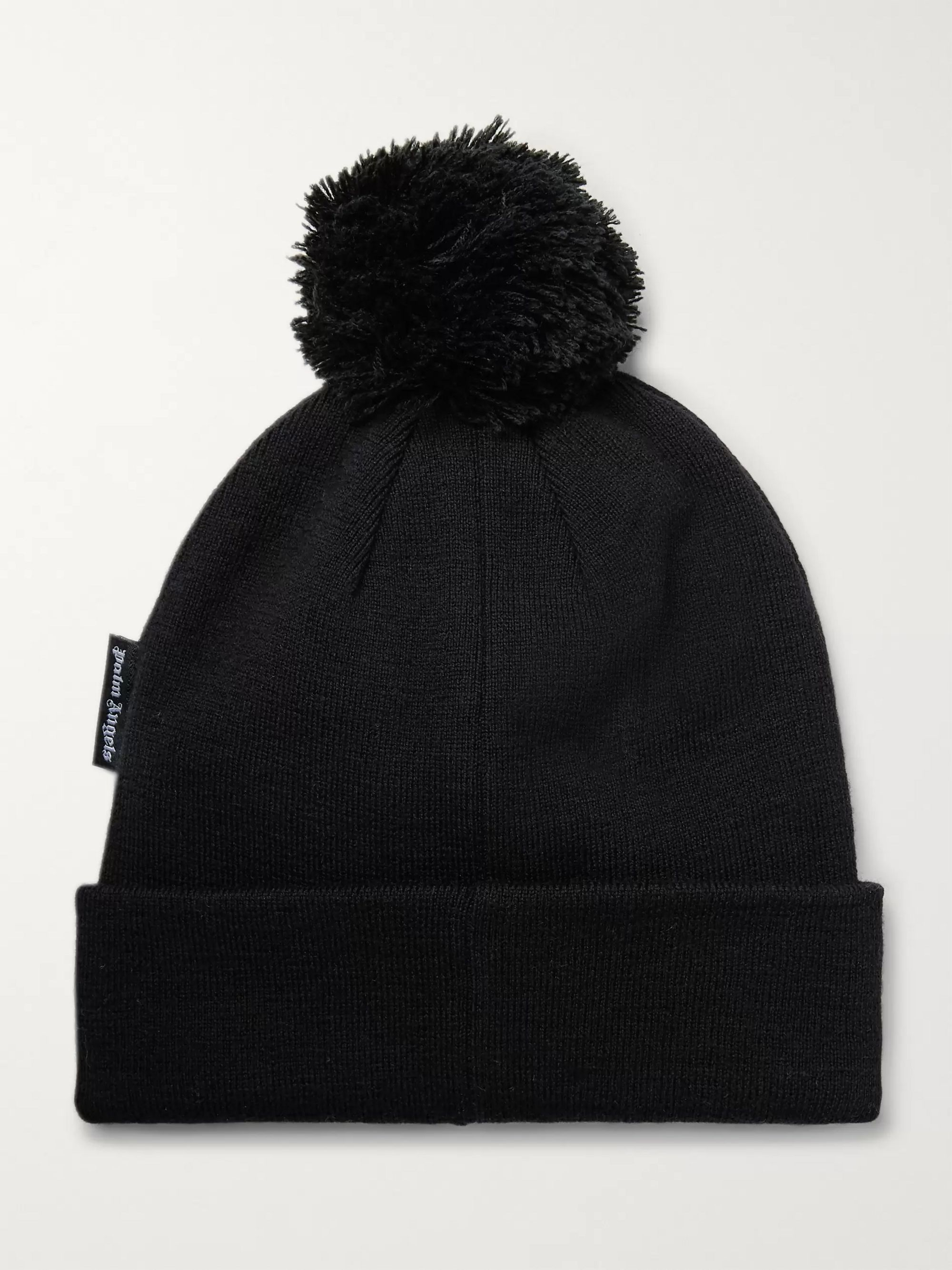 PALM ANGELS Appliquéd Wool Beanie