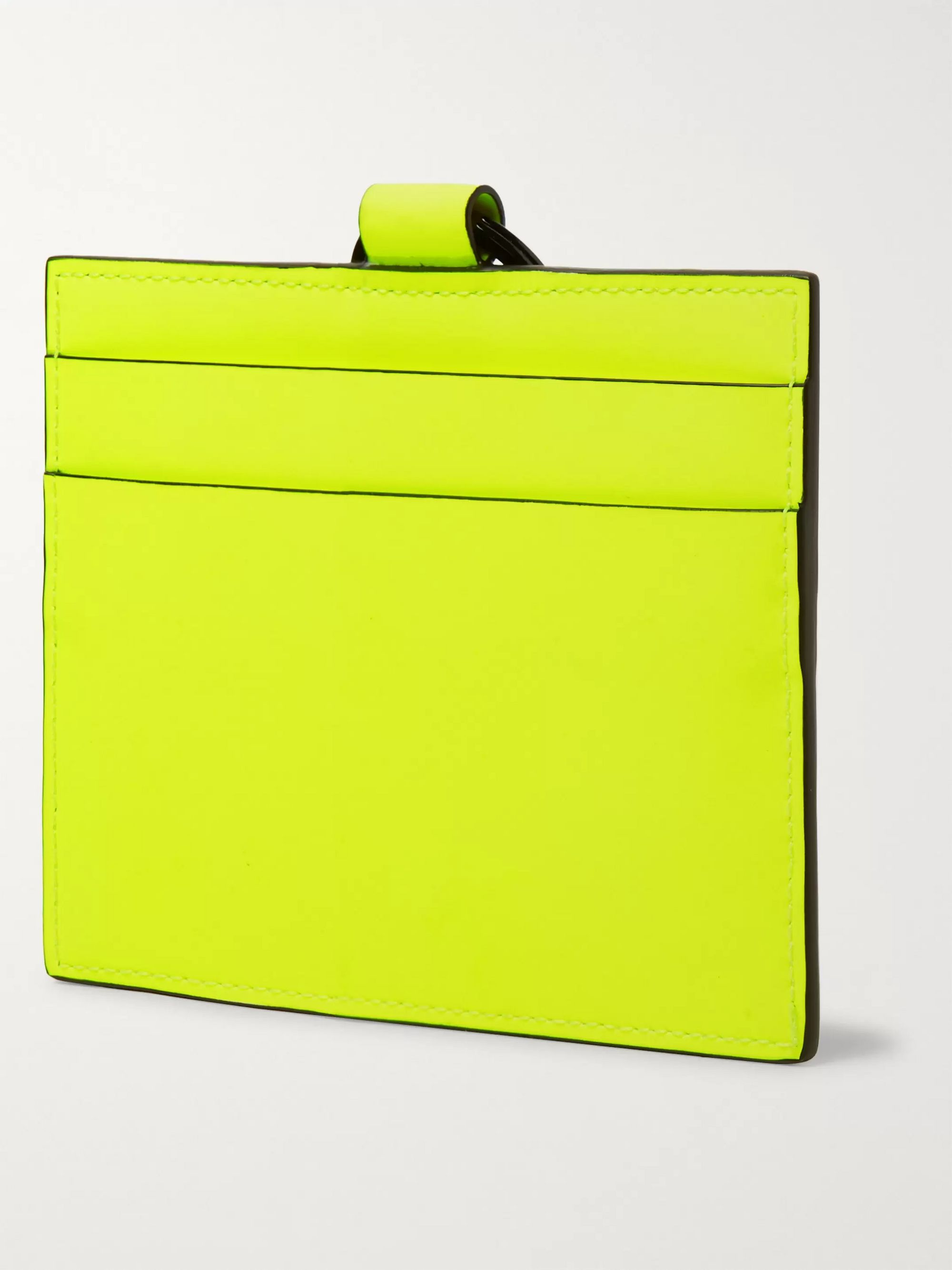 Palm Angels Iconic Leather-Trimmed Neon PU Cardholder