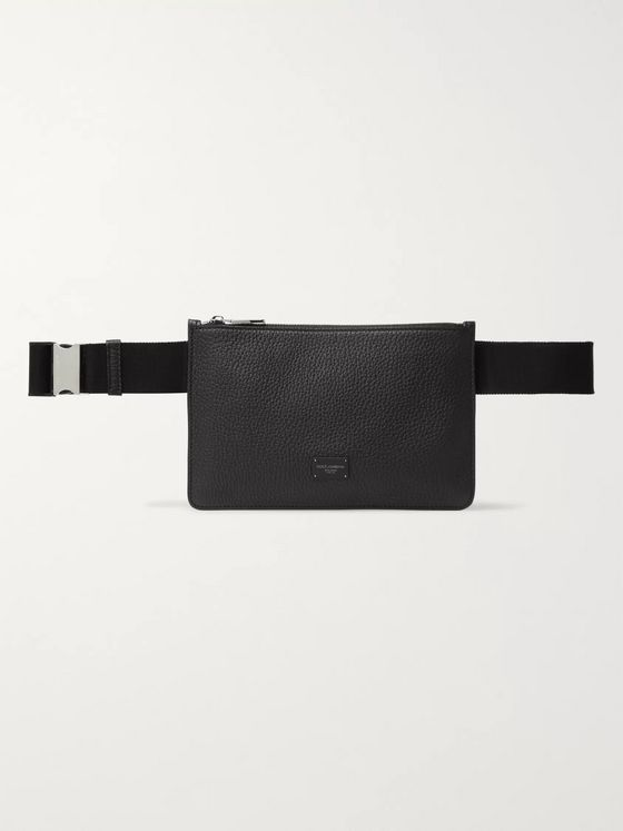 Dolce & Gabbana Full-Grain Leather Belt Bag