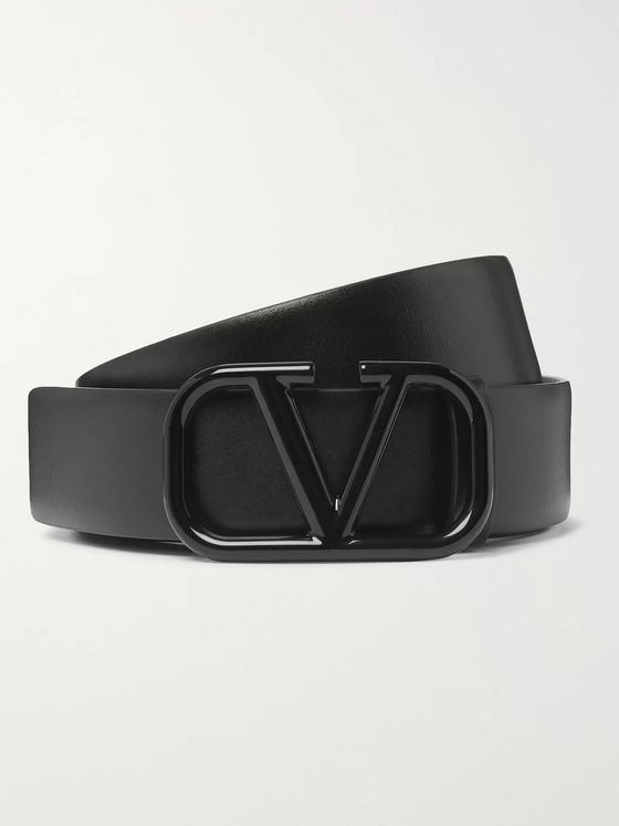 Valentino Valentino Garavani 3cm Black Leather Belt
