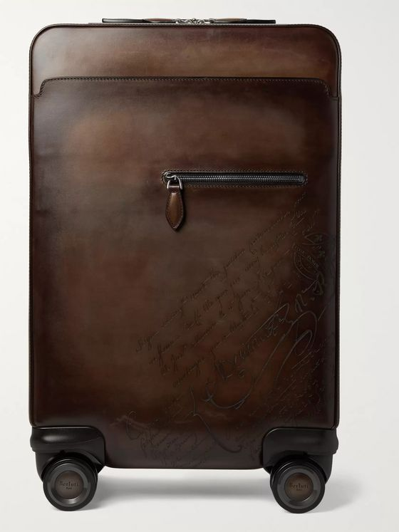 Berluti Formula 1004 Scritto Leather Suitcase