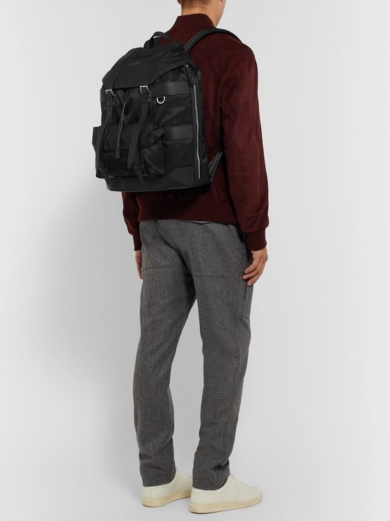 Berluti Leather-Trimmed Nylon Backpack