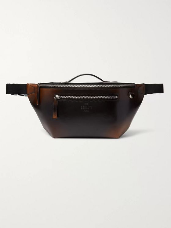 Berluti Complice Scritto Leather Belt Bag