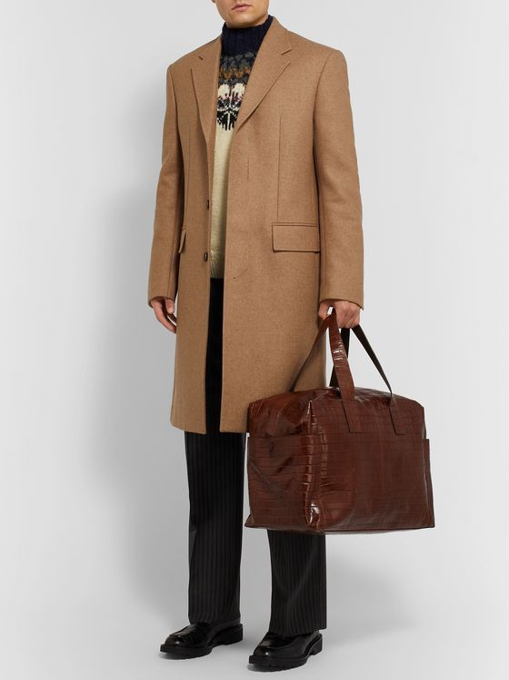 Dries Van Noten Croc-Effect Leather Holdall