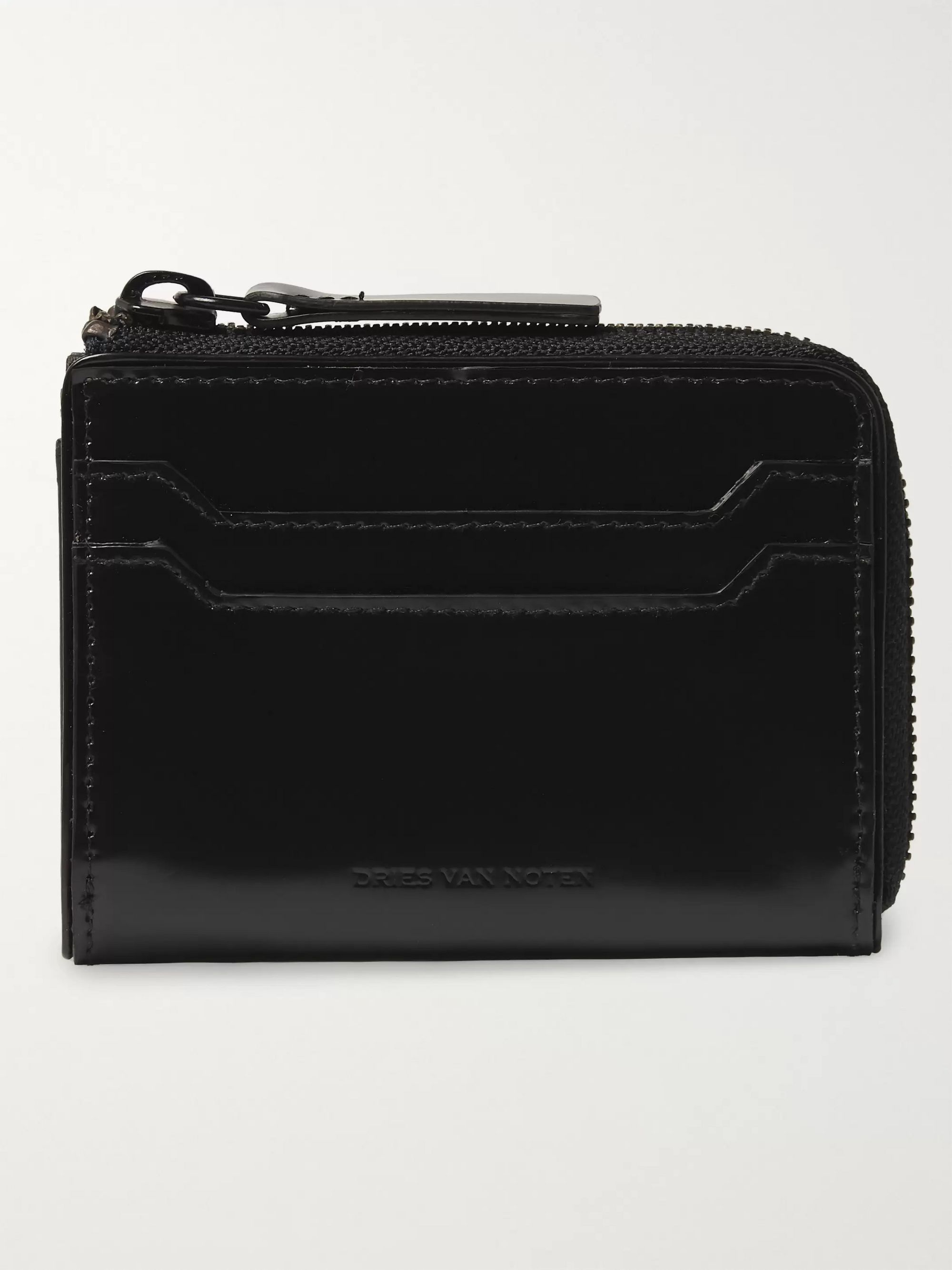 Dries Van Noten Leather Zip-Around Wallet