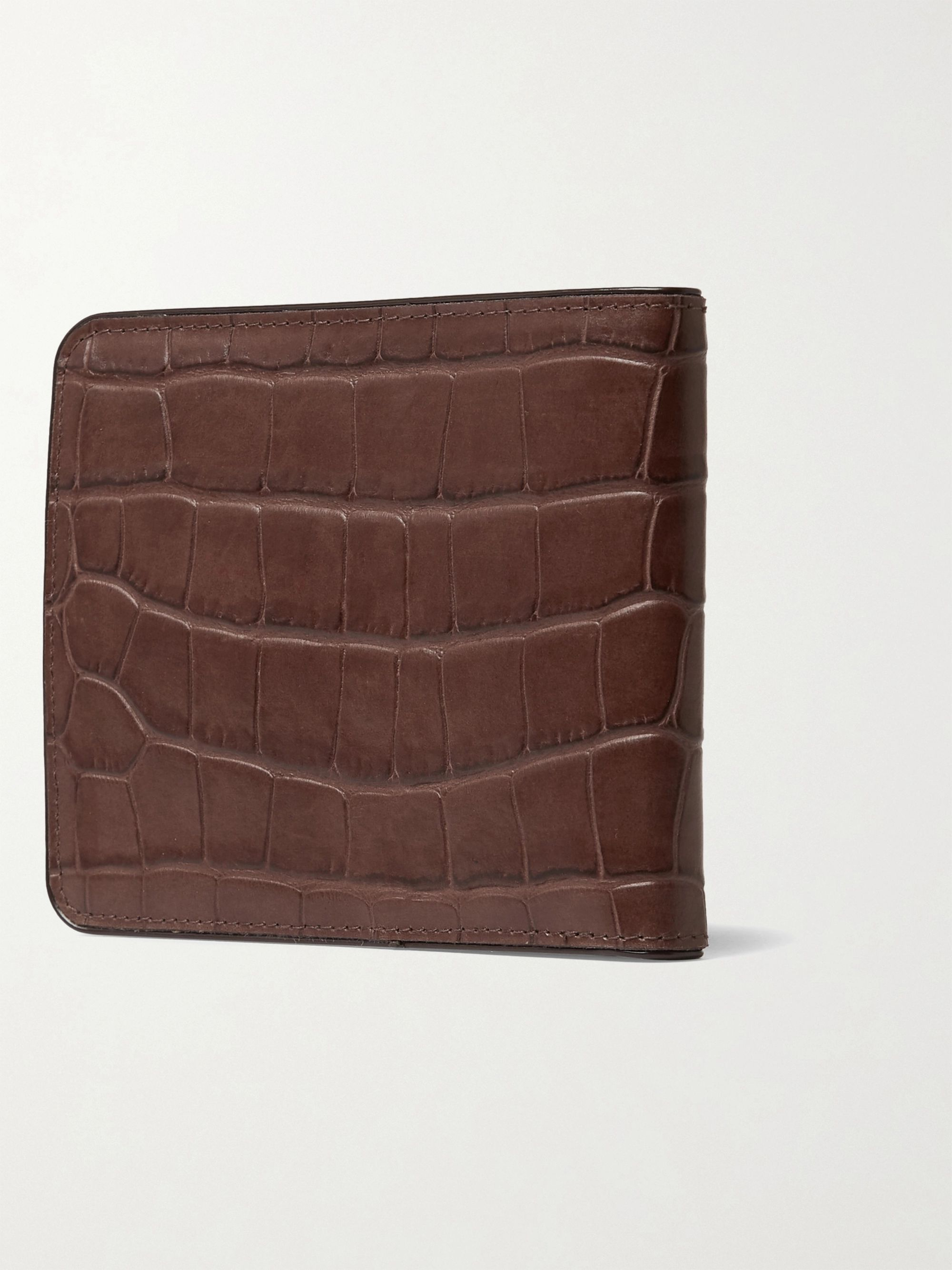 Dries Van Noten Croc-Effect Leather Billfold Wallet