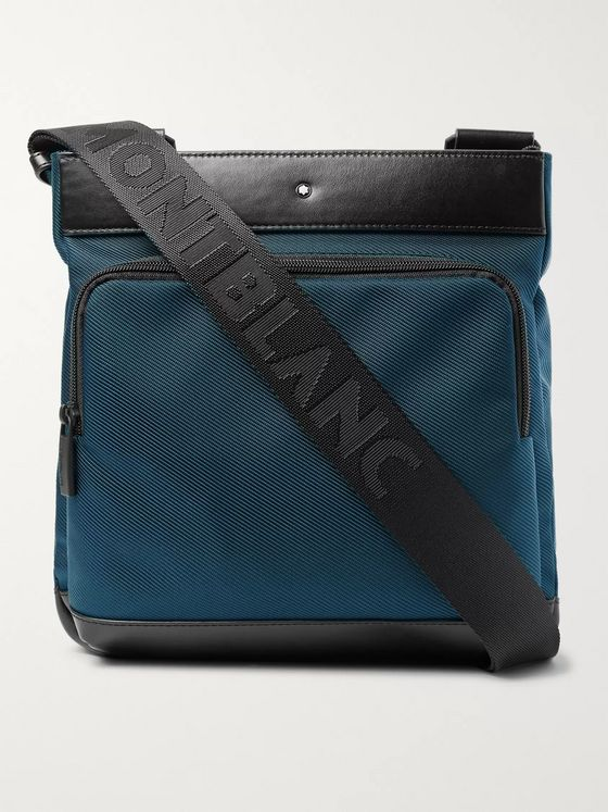 Montblanc Nightflight Leather-Trimmed Canvas Messenger Bag
