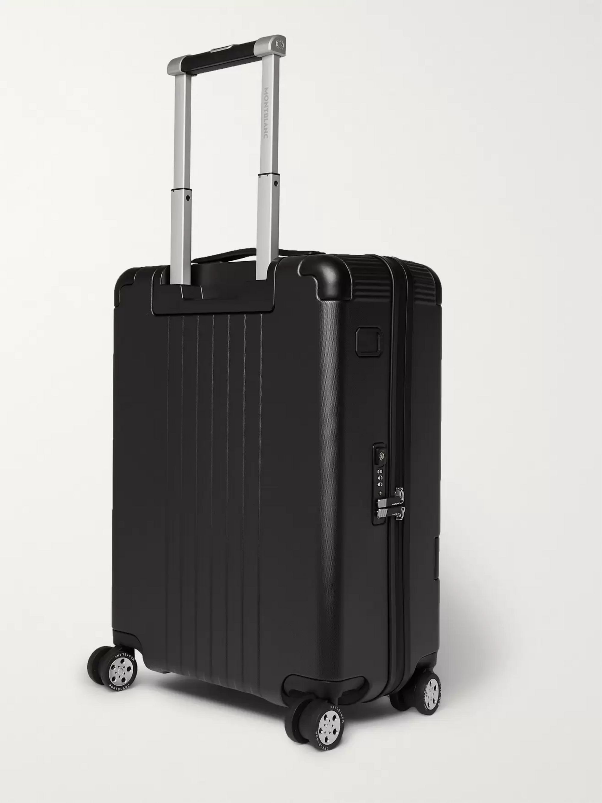 Montblanc #MY4810 Leather-Trimmed Polycarbonate Carry-On Suitcase