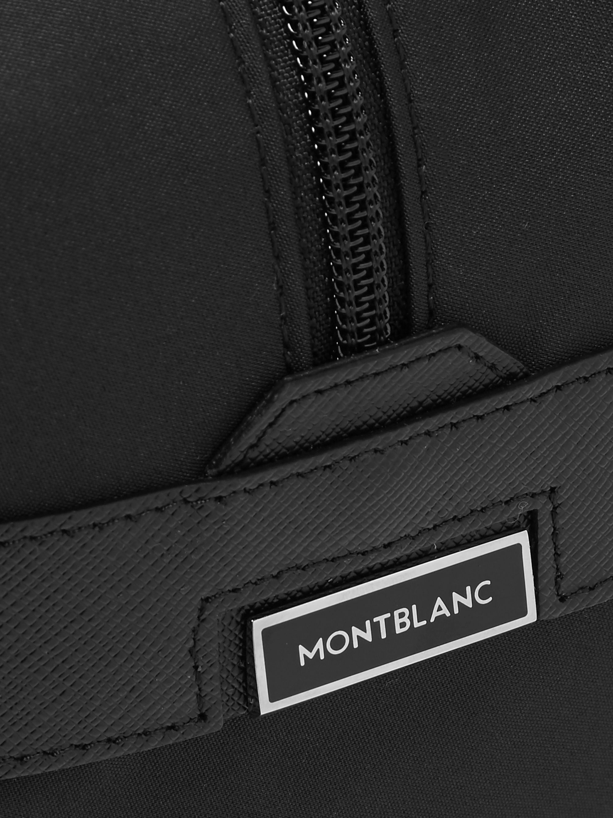 Montblanc Sartorial Jet Cross-Grain Leather-Trimmed Shell Wash Bag