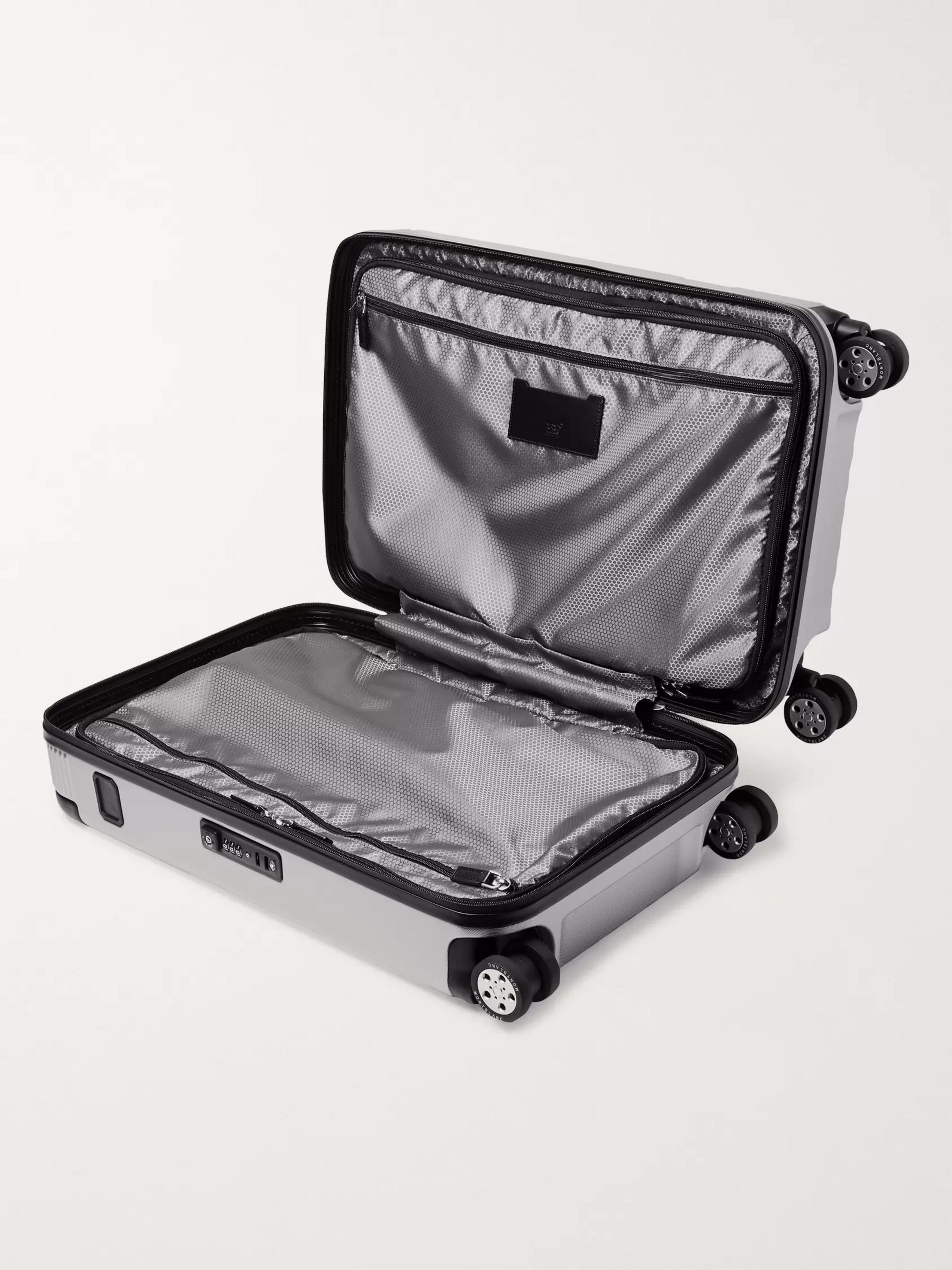 Montblanc #MY4810 Cabin Compact 55cm Leather-Trimmed Polycarbonate Suitcase