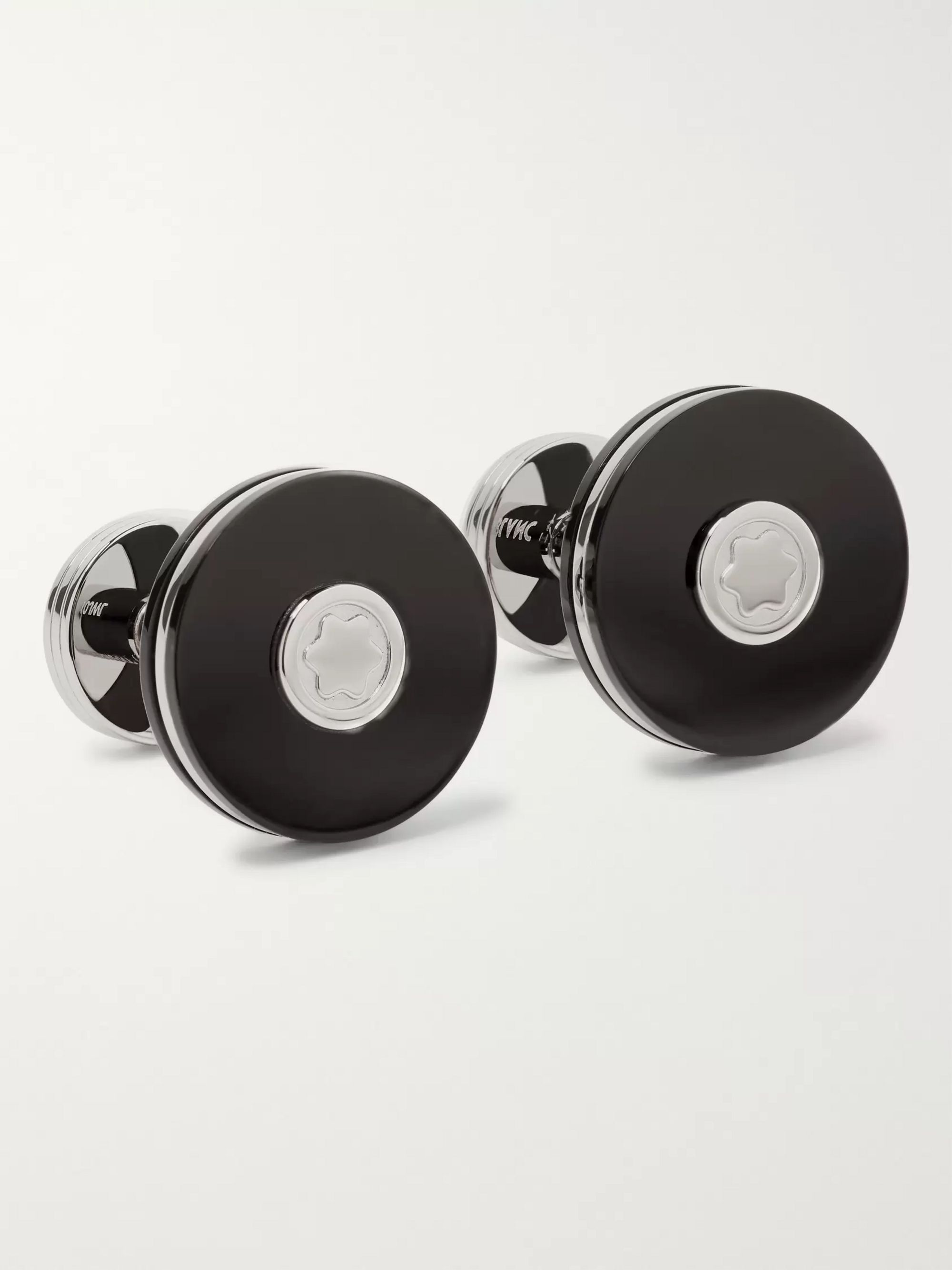 Montblanc Pix Stainless Steel and Resin Cufflinks