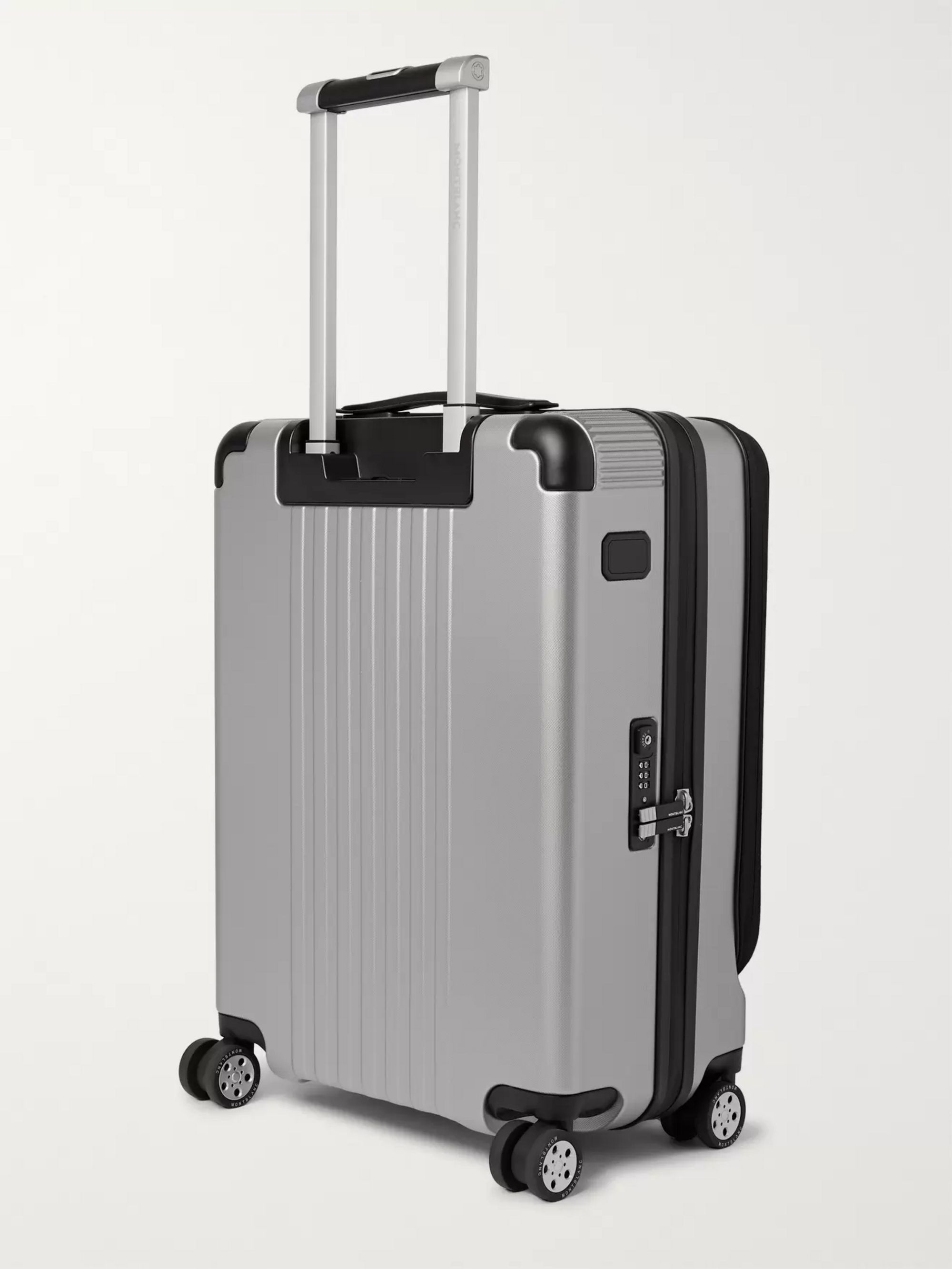 Montblanc #MY4810 Cabin Trolley 55cm Leather-Trimmed Polycarbonate Suitcase