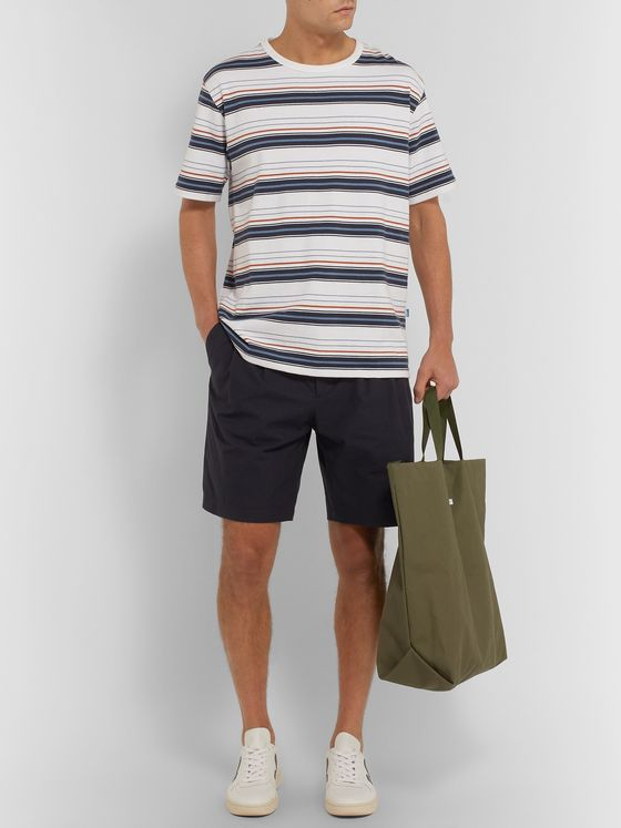 De Bonne Facture Pleated Brushed-Cotton Shorts