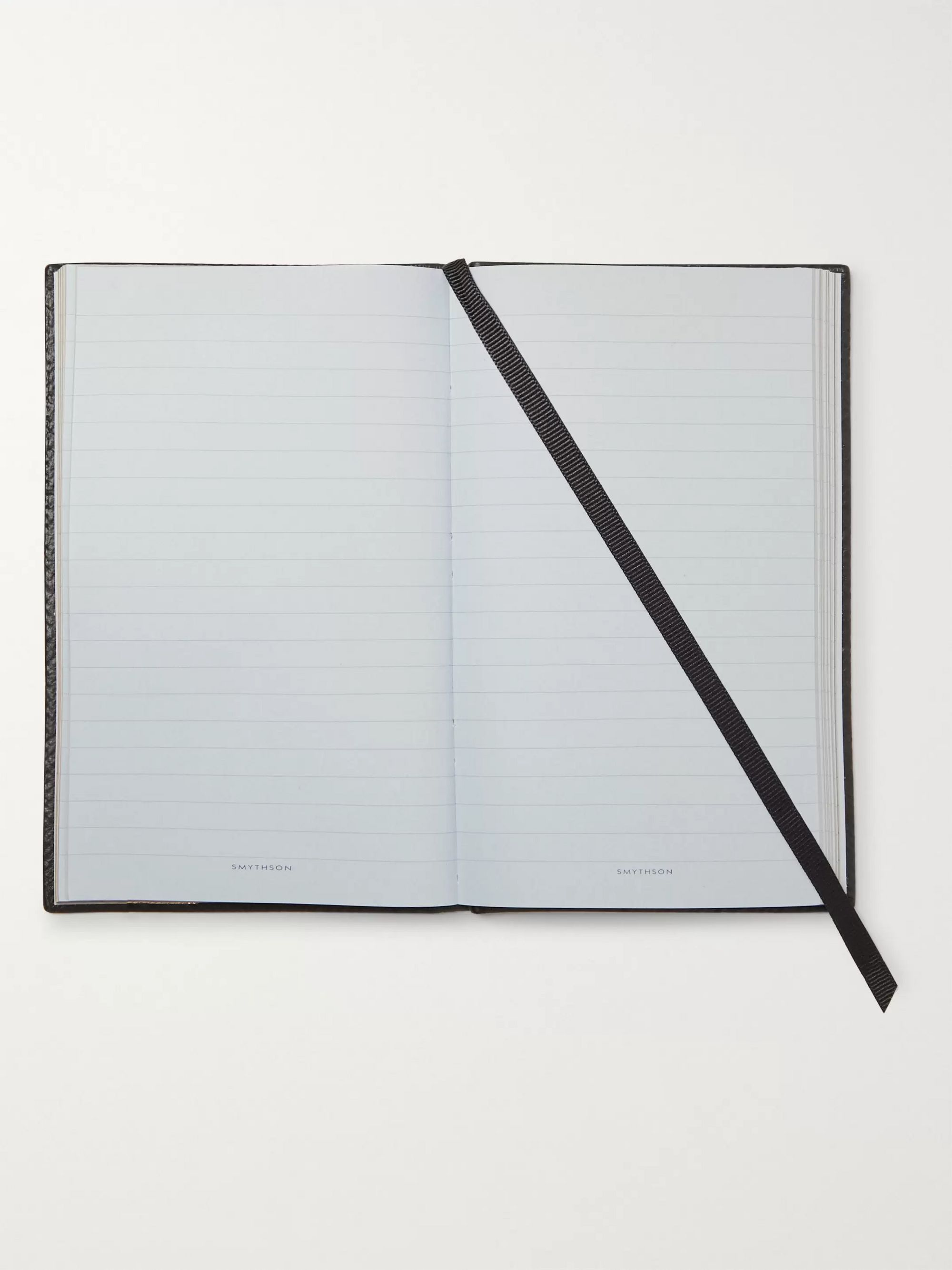 Smythson Panama Inspirations and Ideas Cross-Grain Leather Notebook