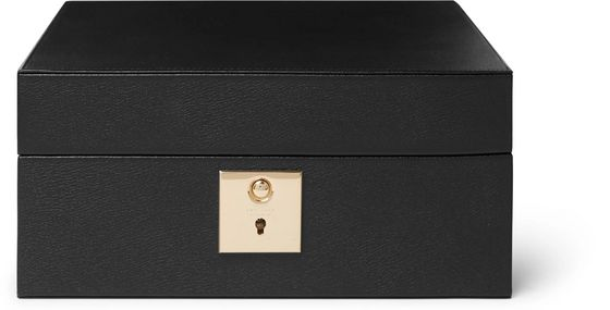 Smythson Grosvenor Full-Grain Leather Lockable Watch Box