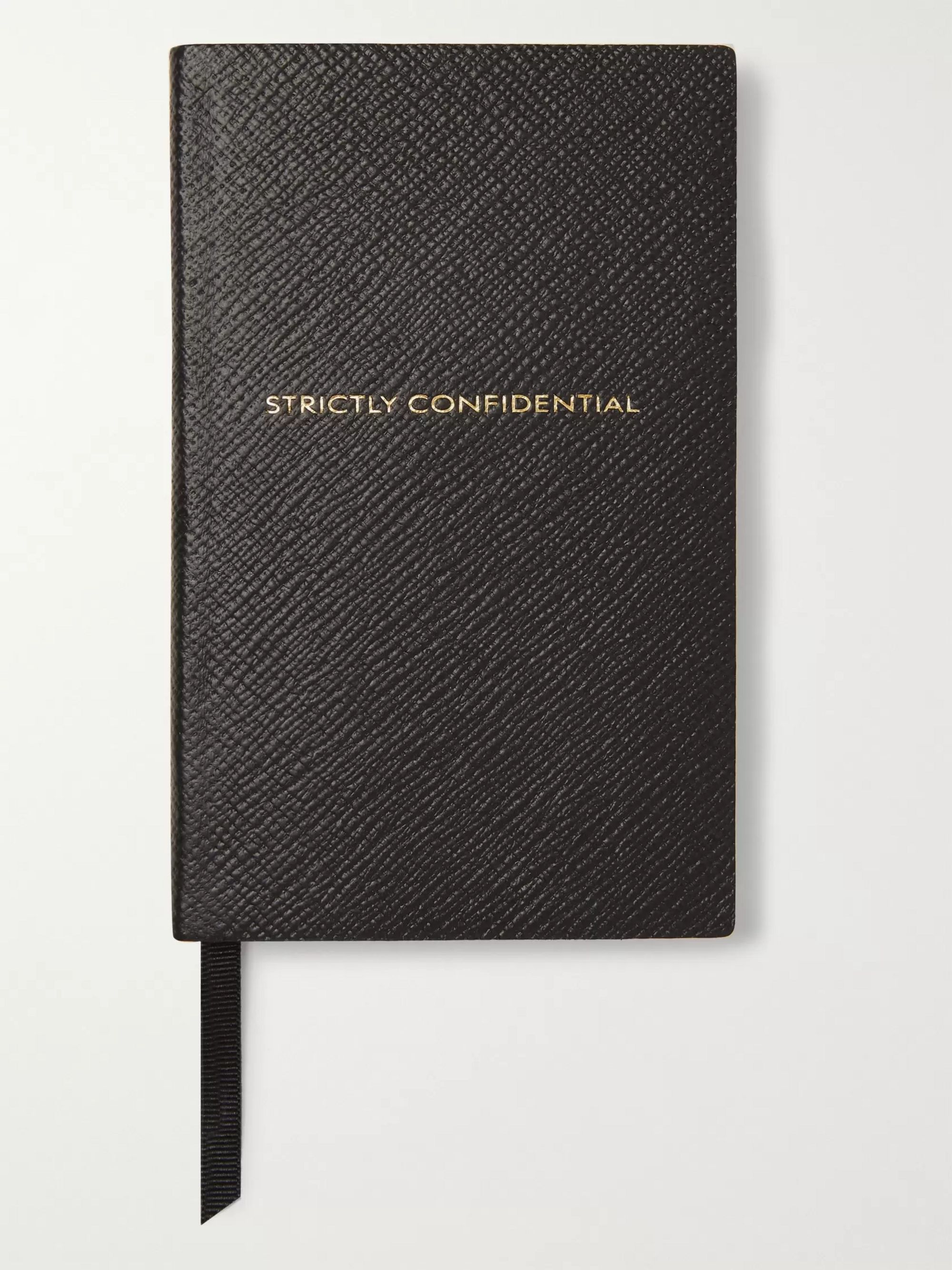 Smythson Panama Strictly Confidential Cross-Grain Leather Notebook