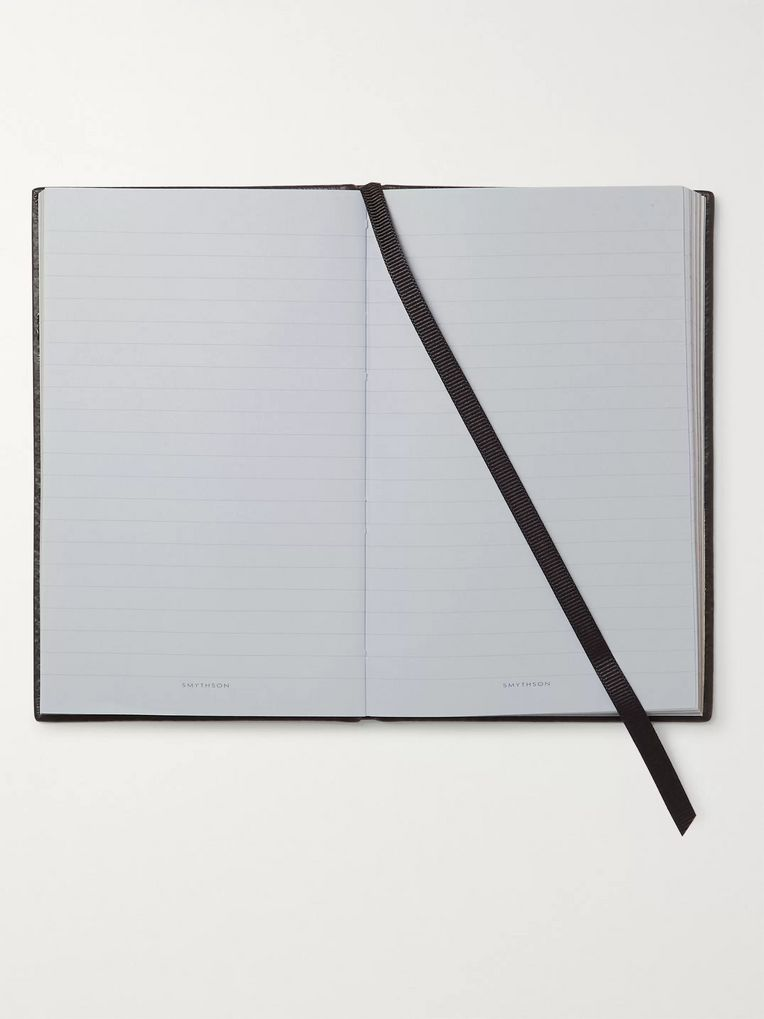 Smythson Panama Cross-Grain Leather Notebook