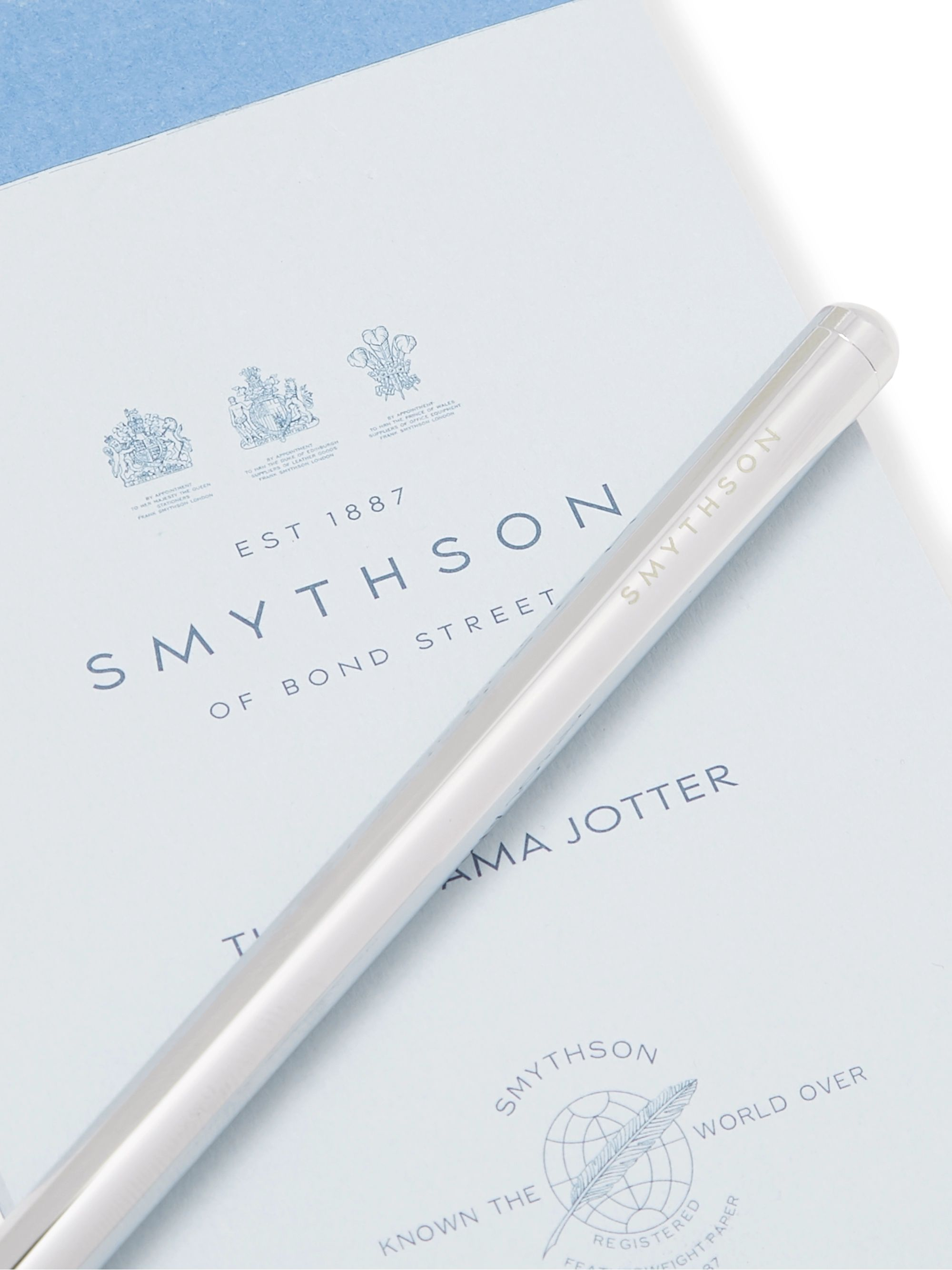 Smythson Mara Croc-Effect Leather Bridge Set