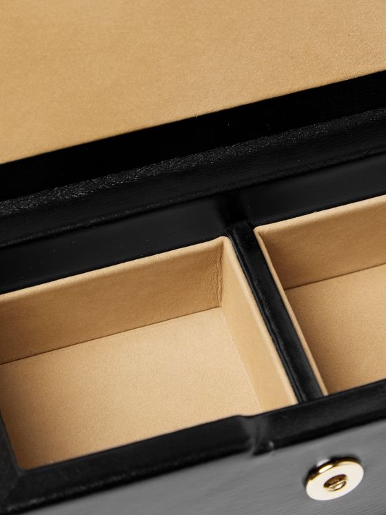 Smythson Leather Cufflinks Box