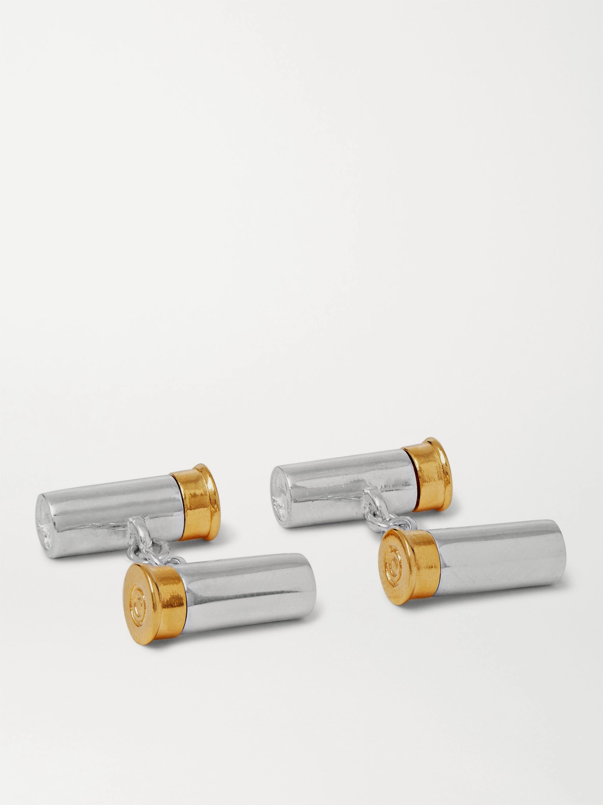 James Purdey & Sons Sterling Silver and Gold-Tone Cufflinks