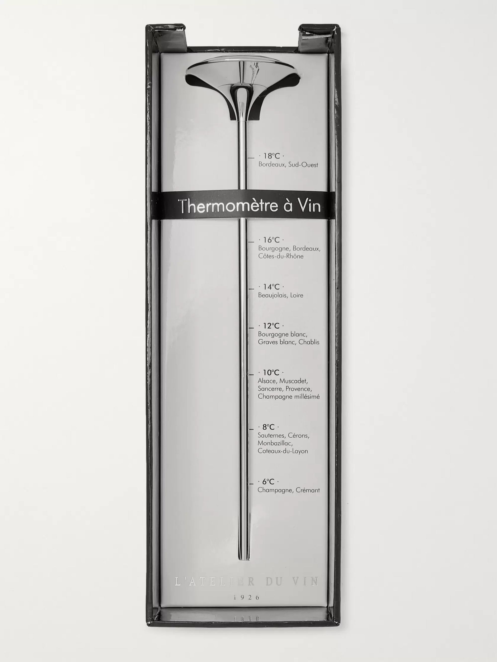 L'Atelier du Vin Stainless Steel Wine Thermometer