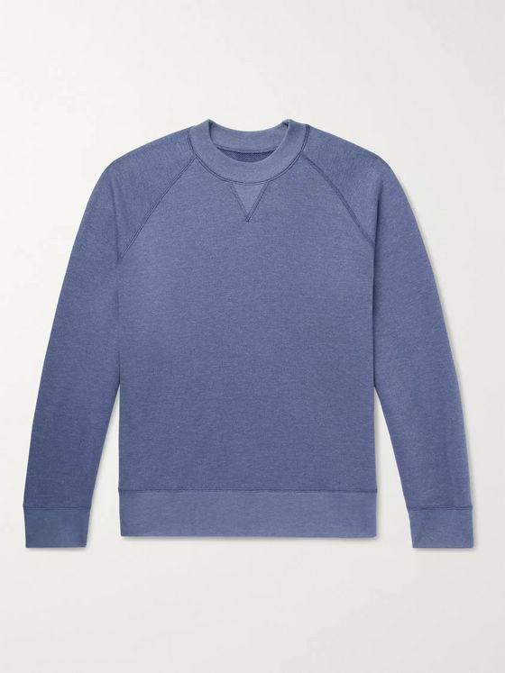 Entireworld Mélange Loopback Cotton-Blend Jersey Sweatshirt