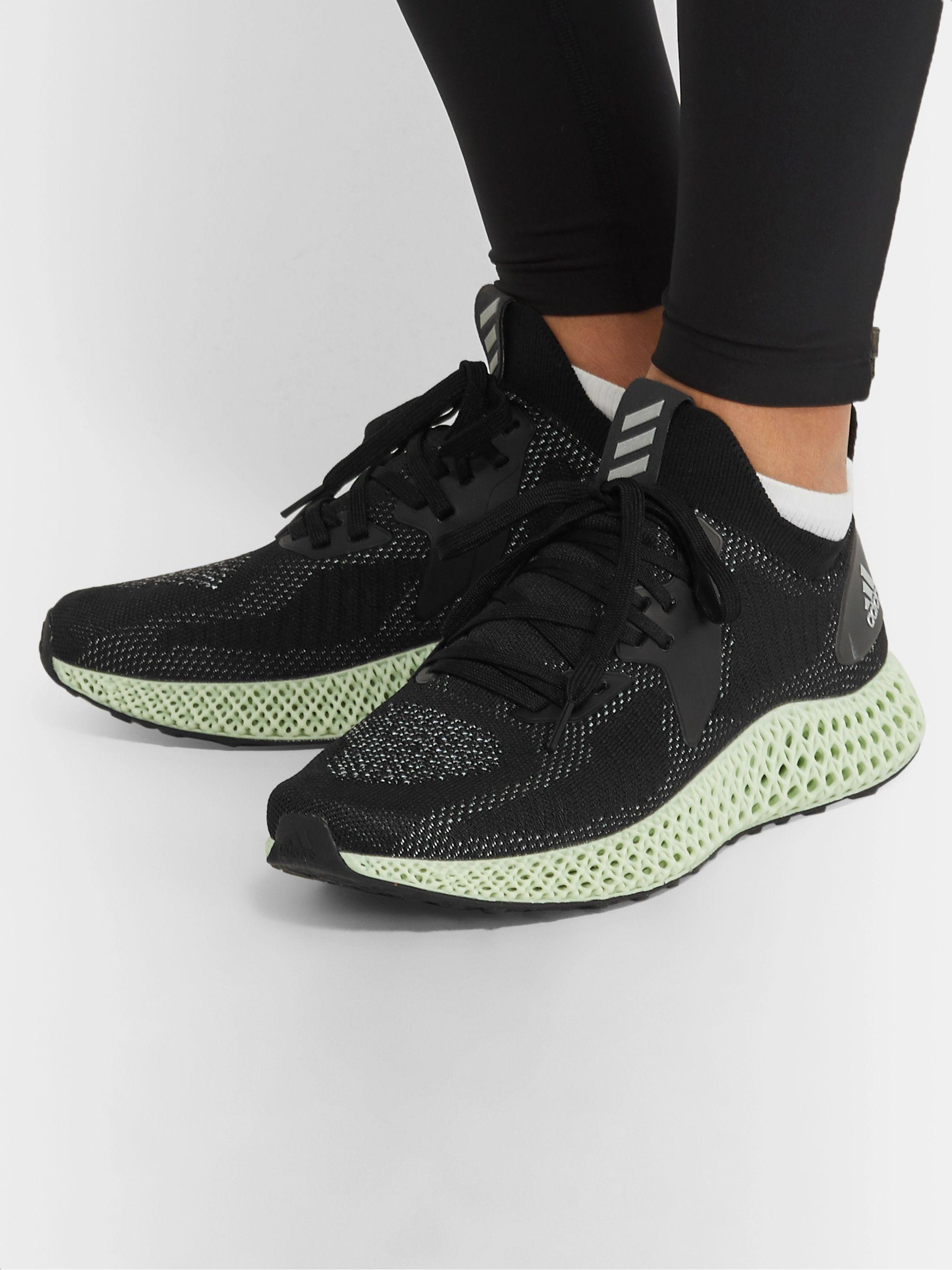 AlphaEdge 4D Rubber Trimmed Primeknit Running Sneakers